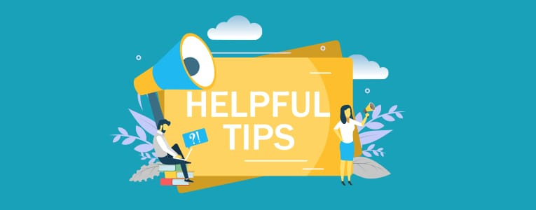 Helpful Tips banner