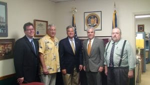 Joel Graber Meets with New York State Senate Minority Leader Dean Skelos to discuss pending legislation affecting the process service industry